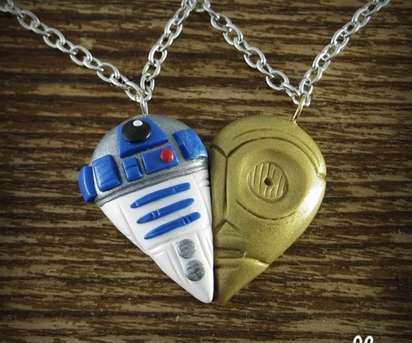 R2-D2 and C-3PO Best Friends Necklace