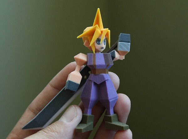 Final Fantasy VII Chocobo 3D Printed figure colored model