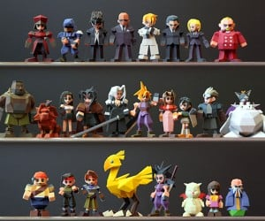 3D Printed Final Fantasy VII Characters: Materia-lized