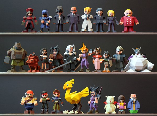 final fantasy vii 3d printed figurines by Joaquin Baldwin
