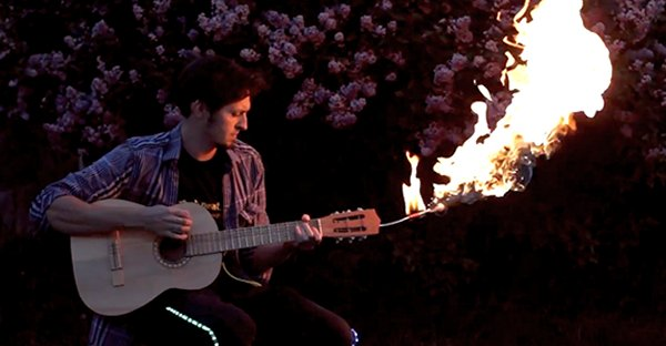 FLAMEnco: The Flame Throwing Guitar