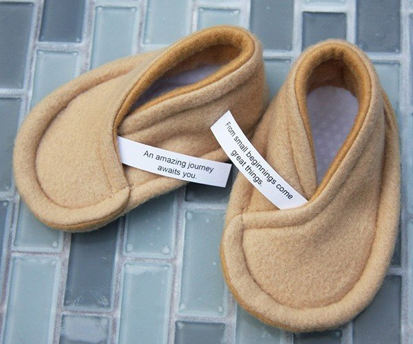 Fortune Cookie Baby Booties: Lucky Feet