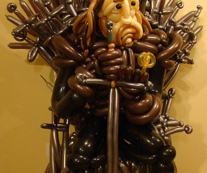 Game of Thrones Balloon Sculpture: A Pin is Coming