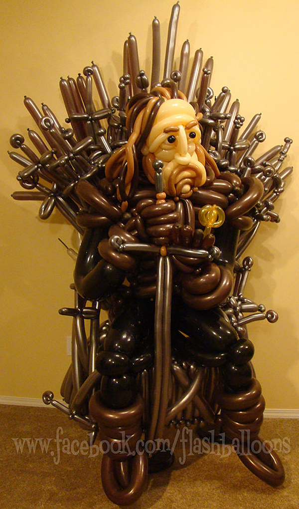 game of thrones ned stark balloon sculpture by phileas flash