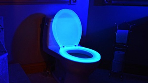 Glow in the Dark Toilet Seat: Pee Like TRON