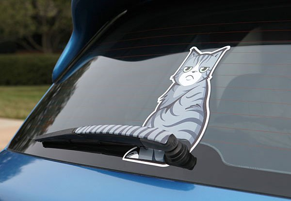 Wipe Your Rear Windshield with a Cat's Tail