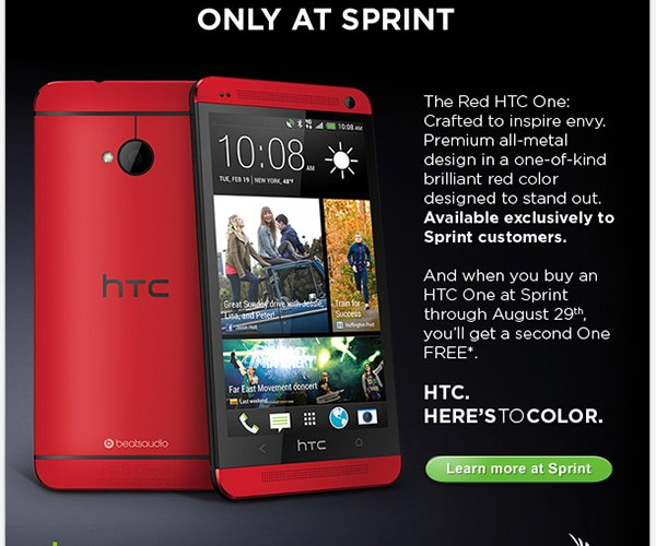 HTC One Sees Red at Sprint