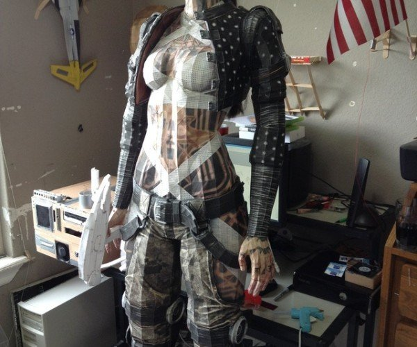 Life-size Mass Effect Jack Papercraft is Massively Impressive
