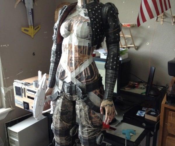 Life-size Mass Effect Jack Papercraft is Massively Impressive