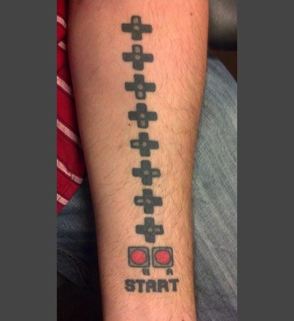 konami code tattoo kevin pacheco