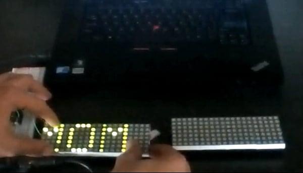 LEDgoes Modular LED Display: Building Blips