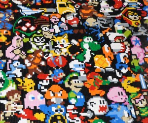 10,000+ Piece LEGO Retro Gaming Mosaic is Truly Epic