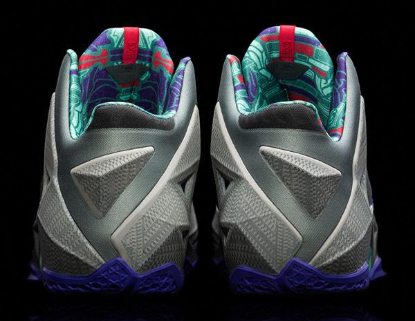 nike lebron james 11 basketball shoe sneaker back photo