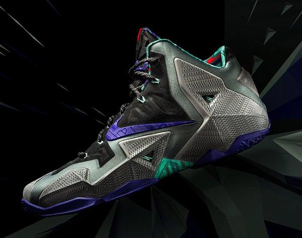 nike lebron james 11 basketball shoe sneaker side photo