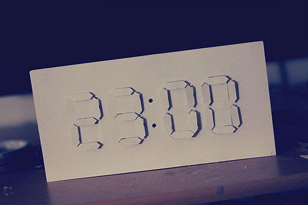 papercraft analog digital clock by alstroemeria