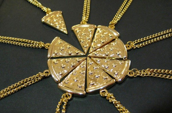 pizza slice friendship necklace