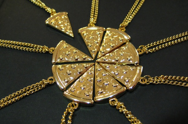Pizza Slice Friendship Necklace: For People With More Than One Friend