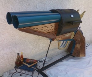 Double-barrel Pistol-grip Sawed-off Shotgun BBQ Grill: The Smoking Gun