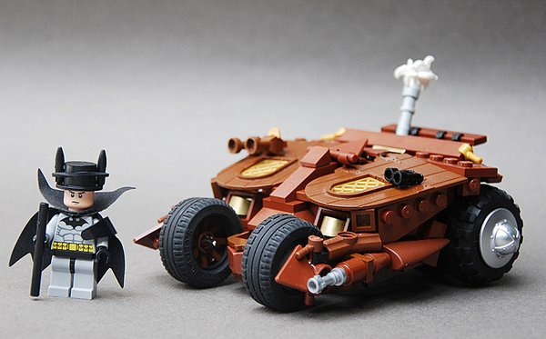 steampunk batcave and batman by legopard 2