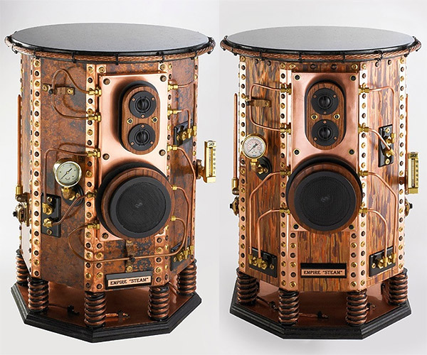 steampunk speakers 1