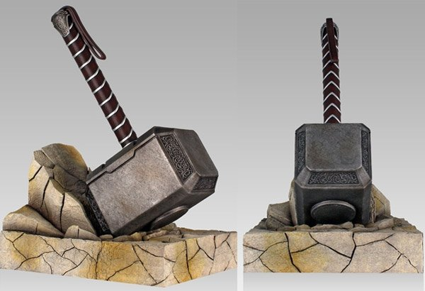 thor hammer bookend 2