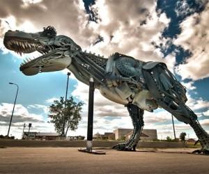 Scrap Metal T-Rex Sculpture: Junkasaurus Rex