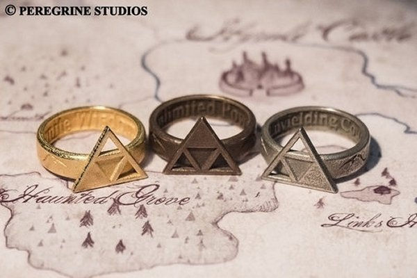 Zelda Triforce Rings: Hyrule Jewelry (Hyrulery?)