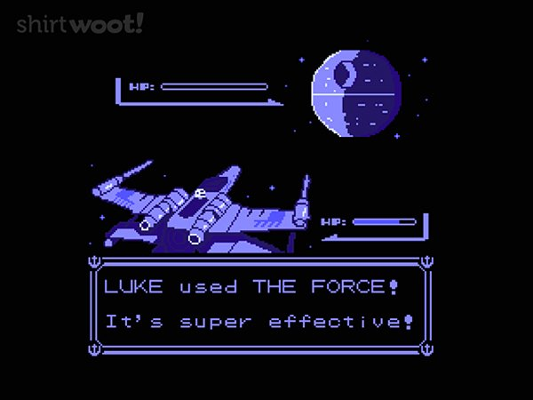 used the force t shirt star wars pokemon by teoz
