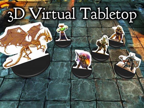 3D Virtual Tabletop: A Pretend Map for Pretend Adventures