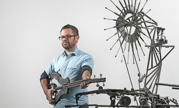 Disarm is an Orchestra of Instruments Made from Weapons
