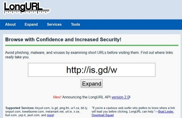 LongURL Takes the Guesswork Out of Those Shortened URLs