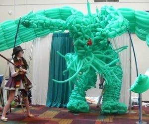 Girl Dressed as Doctor Who Takes on Giant Balloon Cthulhu