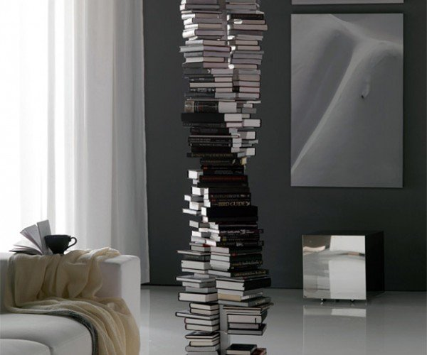 DNA Double Helix-Shaped Bookshelf: Reading Your Genetic Code