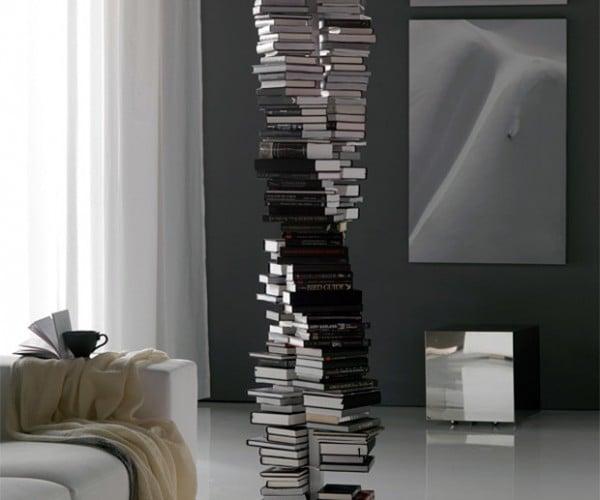 DNA Double Helix-Shaped Bookshelf: Reading Your Genetic Code
