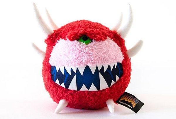 Official Cacodemon and Pain Elemental Plushes: Toys from the Doom Old Days