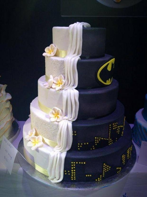 dual batman cake