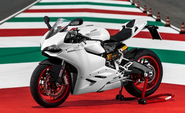 ducati 899 panigale motorcycle white photo