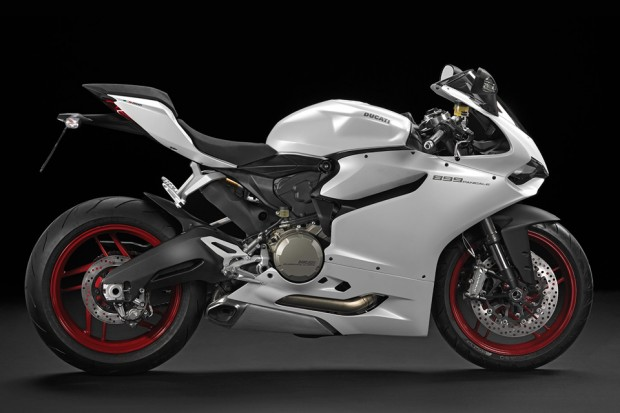 ducati 899 panigale motorcycle white side photo