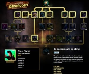 Web Development RPG Skill Tree: Dungeons & Developers