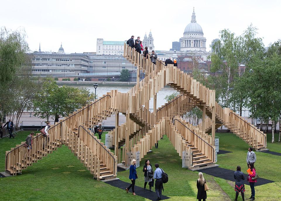 Endless Stair Sculpture: Escher IRL