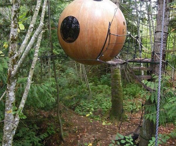 Free Spirit Spheres Hotel: Sleep in the Trees