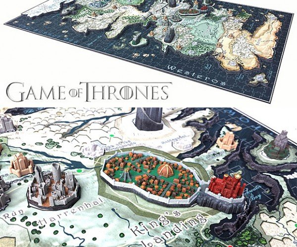 Game of Thrones Map Puzzle: Set Down Our Deeds