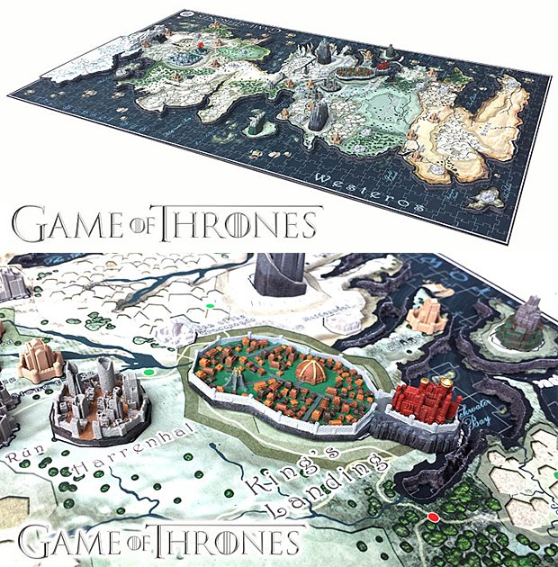 game of thrones 4d puzzle map by 4d cityscape