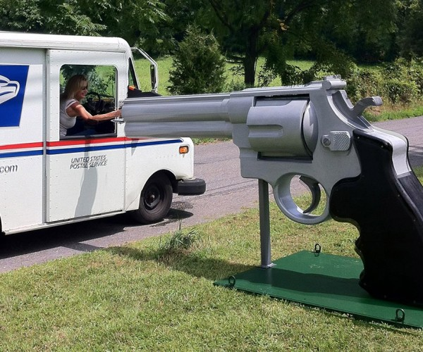 Giant .44 Magnum Mailbox: Let's Hope it's Not Loaded