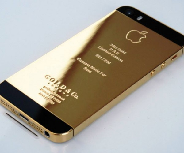 iPhone 5S Plated in Gold or Platinum