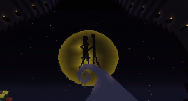 Epic Nightmare Before Christmas Minecraft Rollercoaster: Buckle up for ...