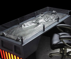 Han Solo in Carbonite Desk Is Perfect for Hutts with a Day Job