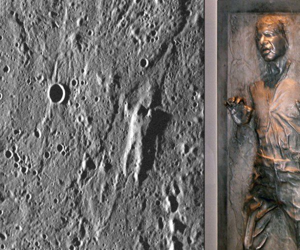 Han Solo Frozen in Carbonite Found on Mercury