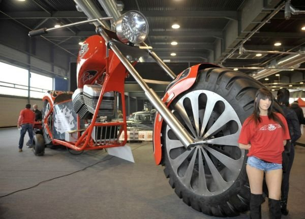 huge motorcycle