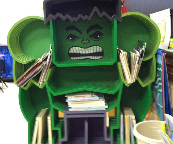 Marvel at this Incredible Hulk Bookcase